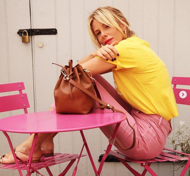 Džins to jesen stiliramo kot Alessia Marcuzzi na milanskem tednu mode - Foto: Instagram.com/alessiamarcuzzi Verified
