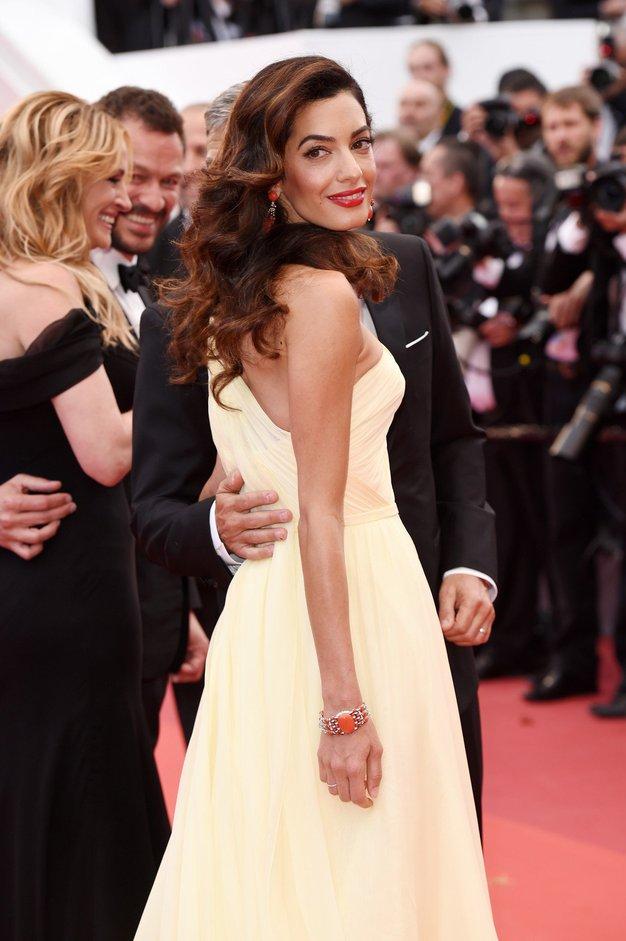 Amal Clooney je v Italiji žarela v tej prelepi obleki - Foto: Profimedia