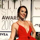 Lorella Flego nas je očarala v prelepi rdeči obleki