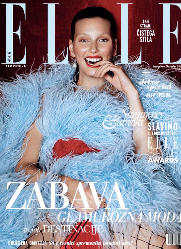 Tukaj je nova ELLE! Preverite, kaj vam sporoča modna urednica - Foto: Elle naslovnica
