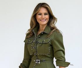 Poglejte čudovit plašč, ki ga je nosila Melania Trump