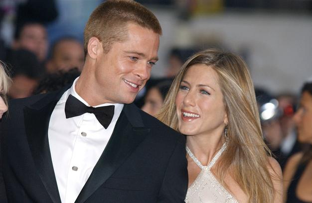 To je fotografija Brada Pitta in Jennifer Aniston, ki je danes zlomila internet - Foto: Profimedia