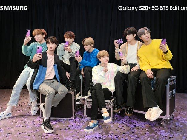 I Purple You: Posebna BTS izdaja Samsung Galaxy S20+ pametnih telefonov in Galaxy Buds+ brezžičnih slušalk - Foto: Samsung