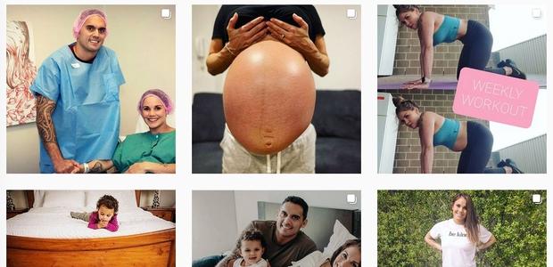 30-letna Avstralka na Instagramu s fotografijo trebuha, ki ji je ostal po četvorčkih