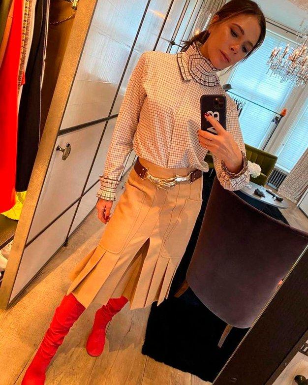 Victoria Beckham pravkar nosila svojo najljubšo modno kombinacijo. Želeli jo boste posnemati - Foto: Profimedia