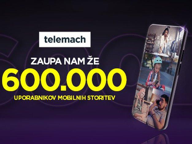 Telemach slavi novo prelomnico - 600.000 uporabnikov - Foto: Telemach