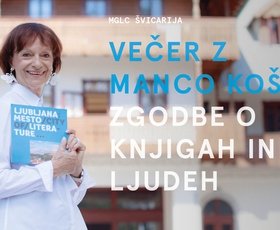 Večer z Manco Košir: Zgodbe o knjigah in ljudeh