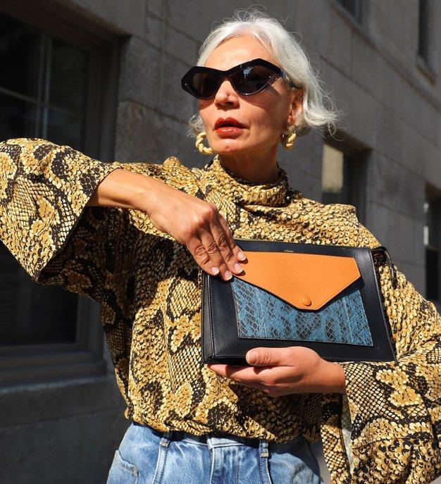 Kako modno in elegantno nositi živalske vzorce pri 50. in več letih - Foto: Instagram
