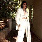 Kendall Jenner na tednu mode v New Yorku drzna v najbolj oprijeti usnjeni mali črni obleki doslej