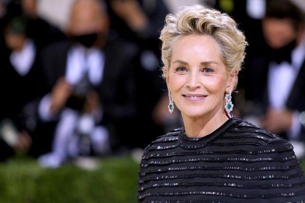 Sharon Stone blestela v elegantni obleki in črnem plašču - Foto: Profimedia